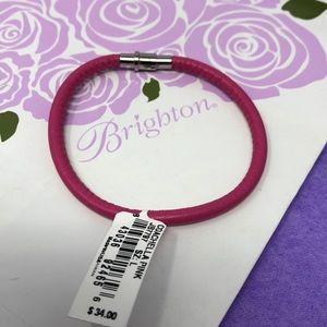 Brighton coachella leather pink bracelet large